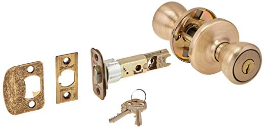 An image of Kwikset 94002-085 Entry Brass Lever Lockset Lock