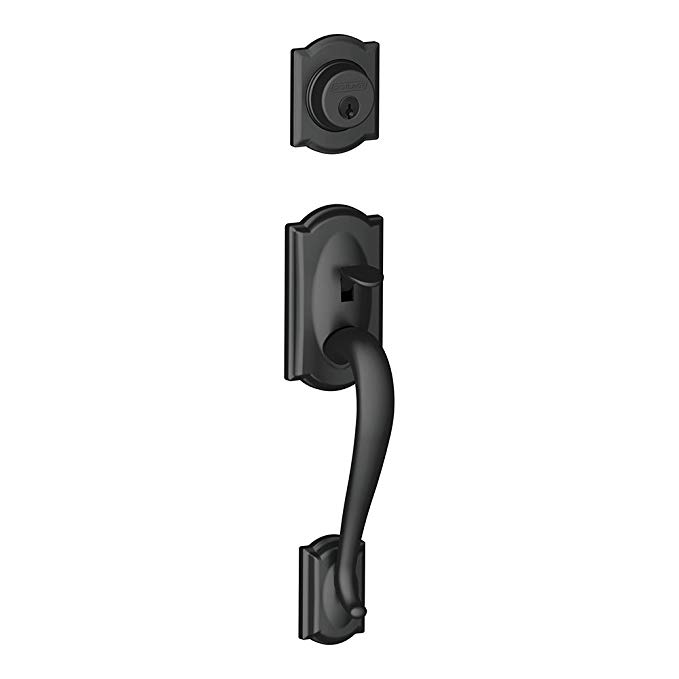 An image related to Schlage F58 CAM 622 Black Lock