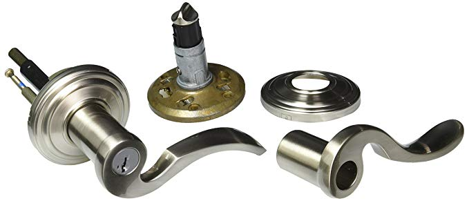 An image related to Kwikset 97402-627 Entry Satin Nickel Lever Lockset Lock