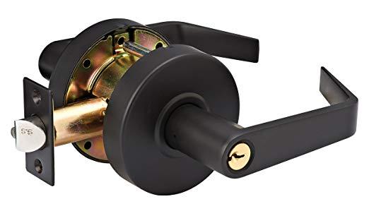 An image of Master Lock SLCHSR10B Storeroom Oil-Rubbed Bronze Lever Lockset Lock | Door Lock Guide