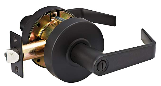 An image of Master Lock SLCHPV10B Privacy Oil-Rubbed Bronze Lever Lockset Lock | Door Lock Guide