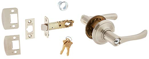 An image related to Schlage F51AVLA619 Entry Satin Nickel Lever Lockset Lock