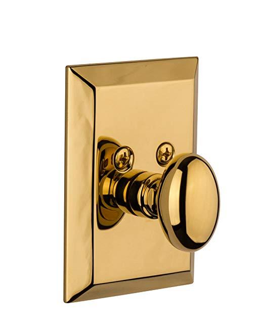 An image of Grandeur FAV-60-LB-KD House Brass Door Lock