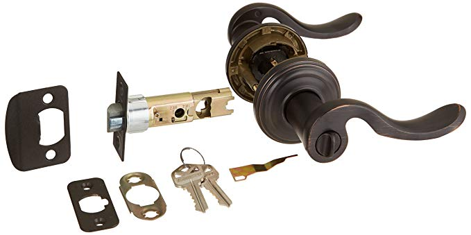 An image related to Kwikset 740ADL 11P SMT CP K4 Entry Venetian Bronze Lever Lockset Door Lock