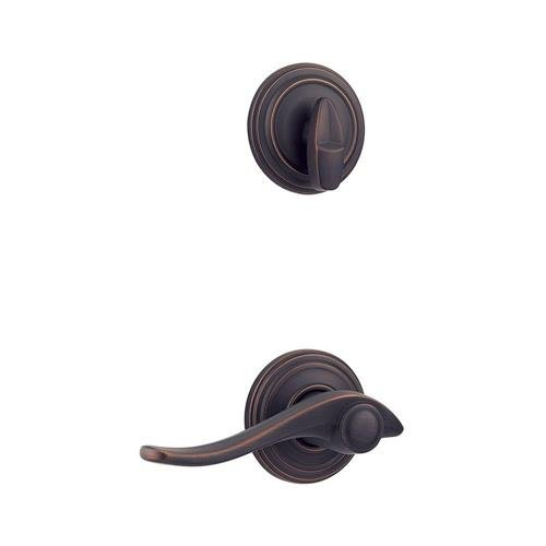 An image of Kwikset 99660-061 Venetian Bronze Lever Lockset Door Lock