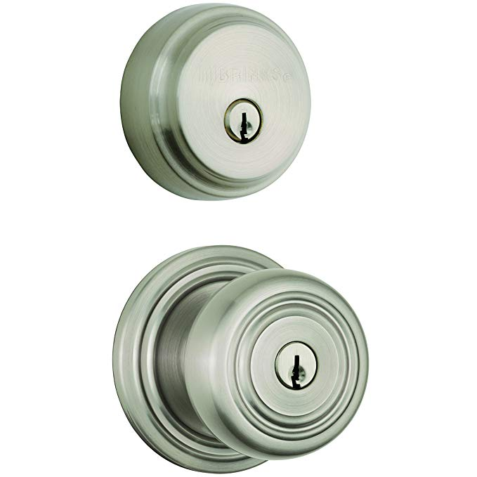 An image related to BRINKS 23084-119 Bathroom Entry Satin Nickel Lever Lockset Lock