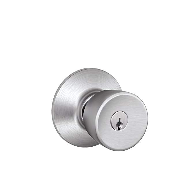 An image related to Schlage F51VBEL626 Entry Brushed Chrome Lock