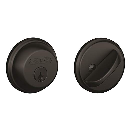 An image of Schlage B60N622 Black Lock