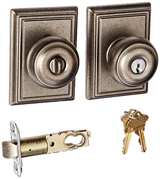 An image related to Schlage F51AGEO621ADD Entry Nickel Lock