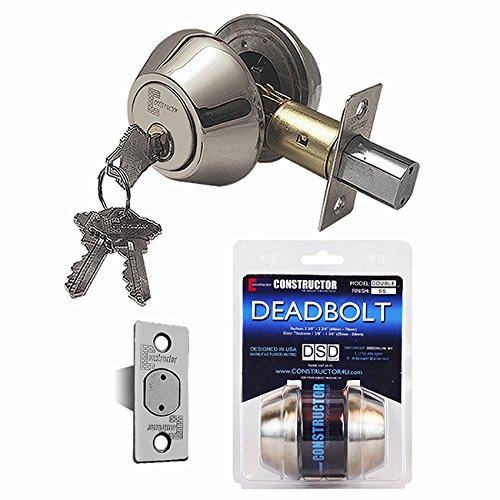 An image of Constructor CON-DBT-SS-D Satin Nickel Lock | Door Lock Guide