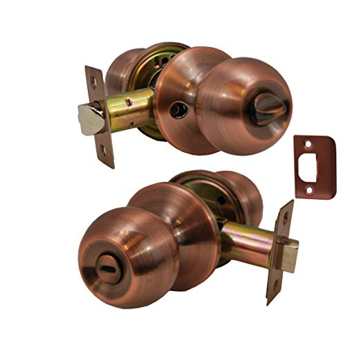 An image related to Constructor CON4352 Bathroom Privacy Bronze Lever Lockset Lock