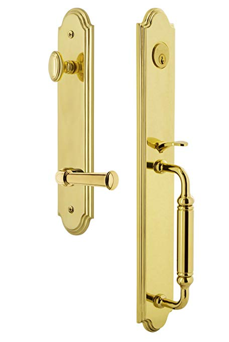 An image of Grandeur 842906 Brass Lever Lockset Door Lock | Door Lock Guide