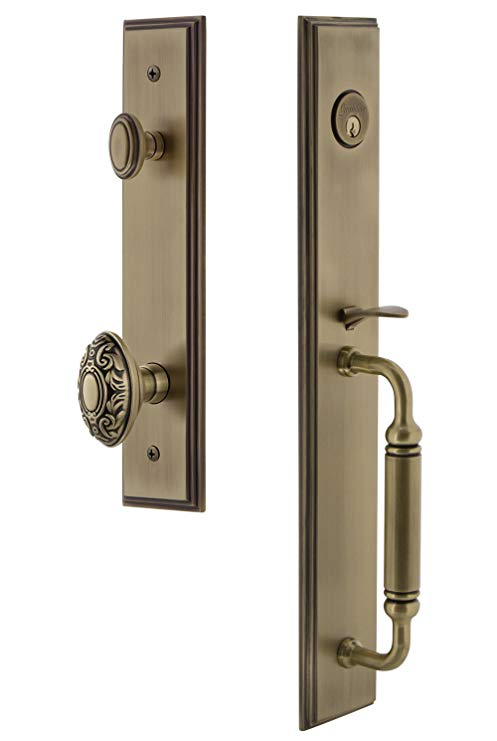 An image of Grandeur 842374 Brass Lever Lockset Lock