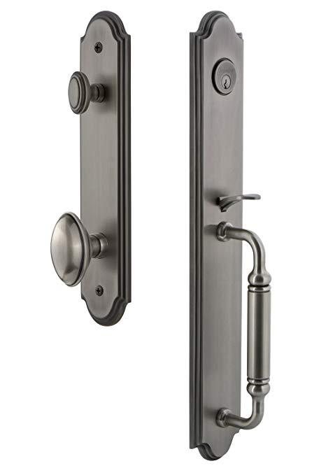 An image related to Grandeur 841942 Pewter Lever Lockset Lock