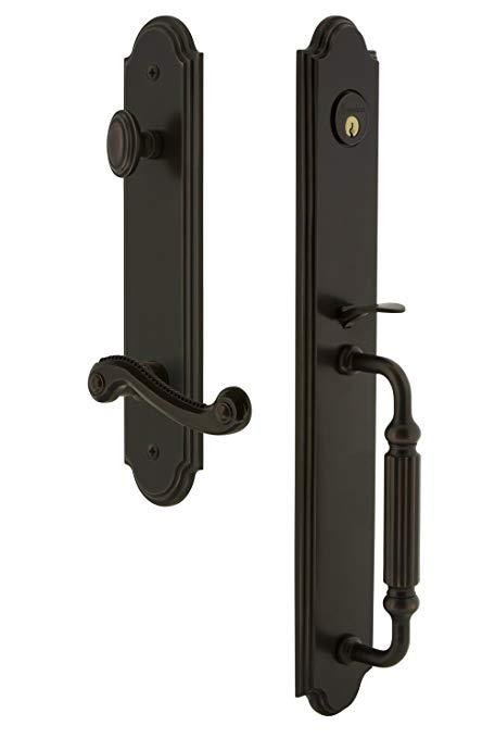 An image related to Grandeur 846974 Bronze Lever Lockset Lock
