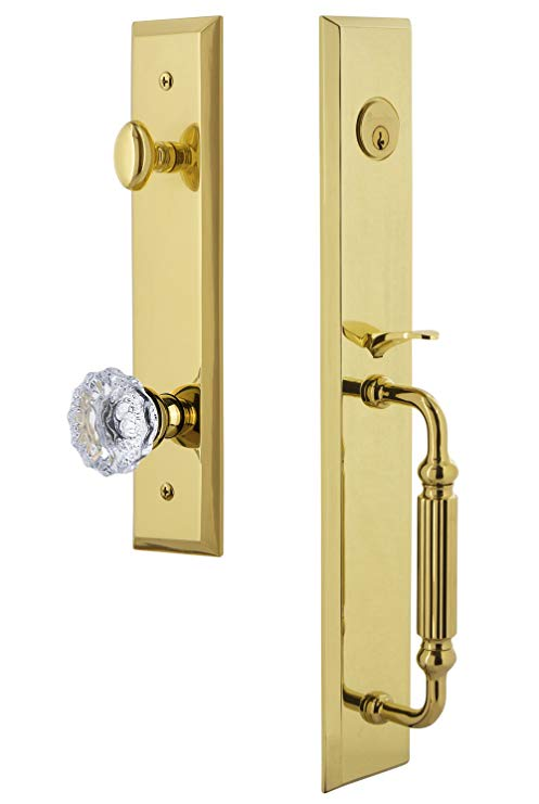 An image of Grandeur 846197 Brass Lever Lockset Lock