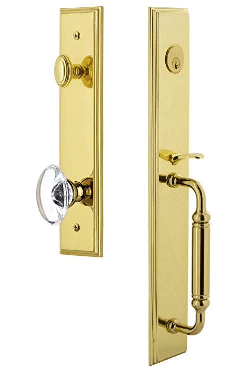An image related to Grandeur 842421 Brass Lever Lockset Lock