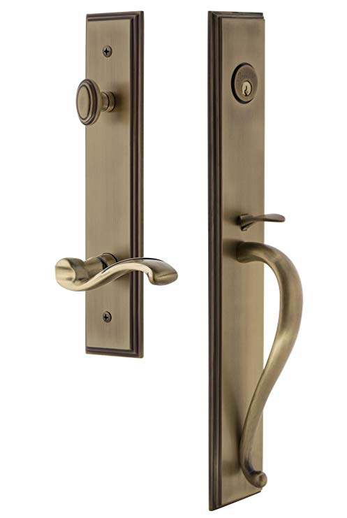 An image related to Grandeur 847580 Brass Lever Lockset Door Lock