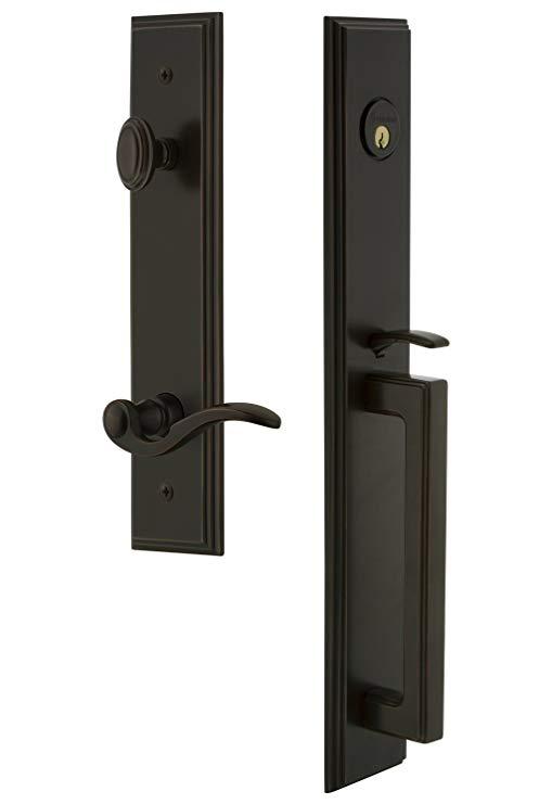 An image related to Grandeur 843392 Bronze Lever Lockset Door Lock