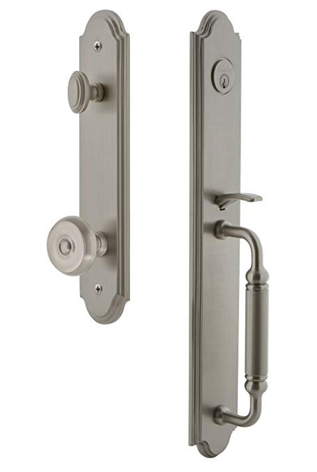 An image of Grandeur 841870 Satin Nickel Lever Lockset Lock | Door Lock Guide