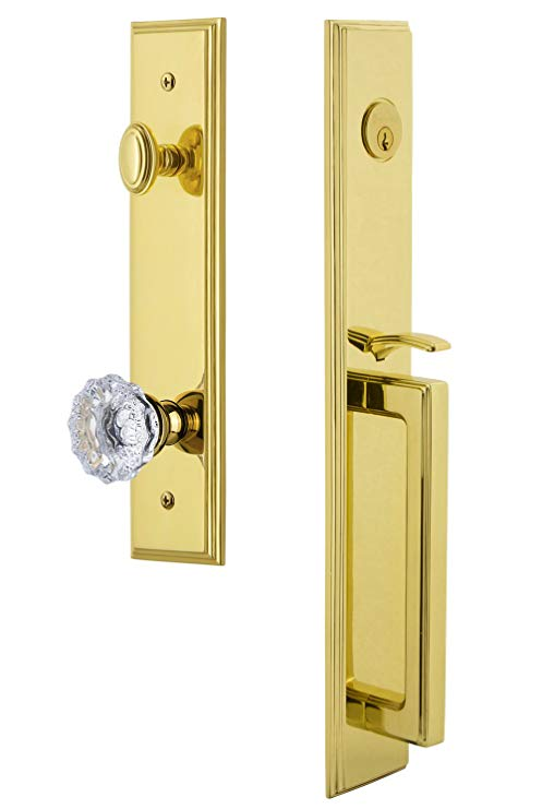 An image related to Grandeur 845102 Brass Lever Lockset Lock