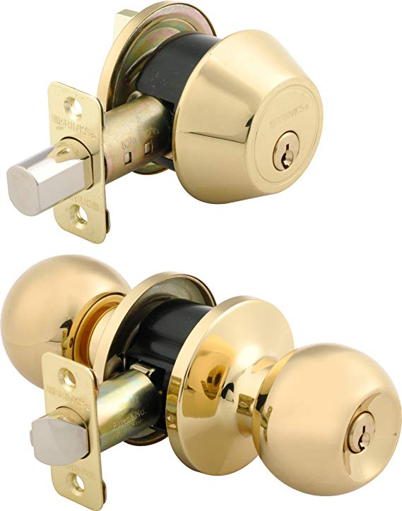 An image of BRINKS 2704-105 Metal Polished Brass Lock