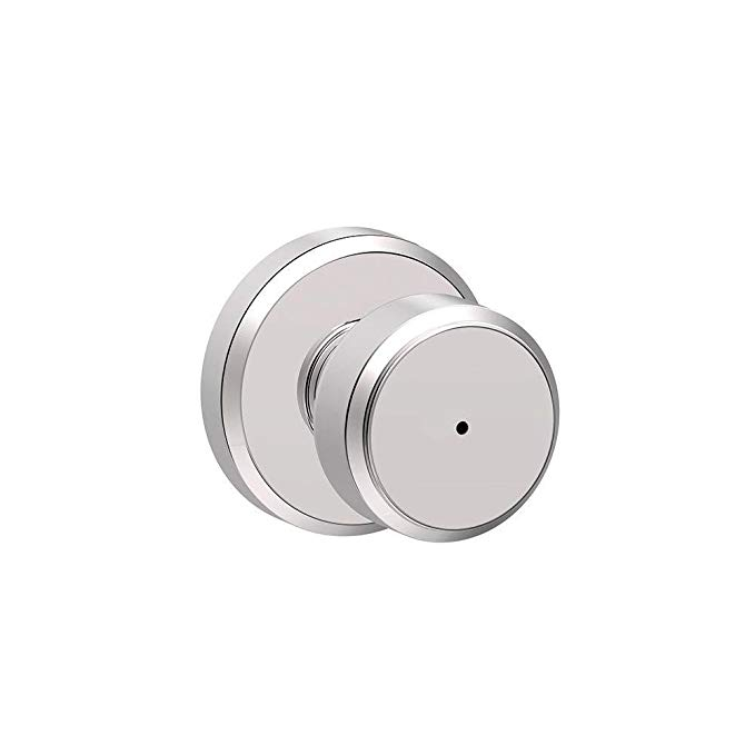An image of Schlage F40 BWE Bathroom Privacy Chrome Effect Lock