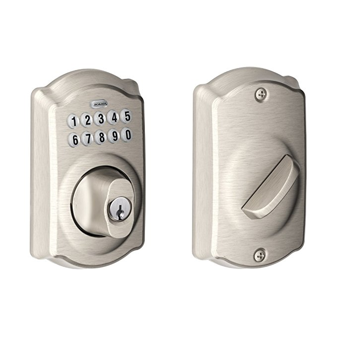 An image of Schlage BE365 CAM Satin Nickel Lever Lockset Lock | Door Lock Guide