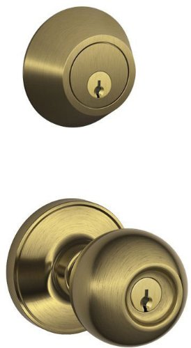 An image related to Schlage JC60V CNA 609 Entry Brass Lever Lockset Lock