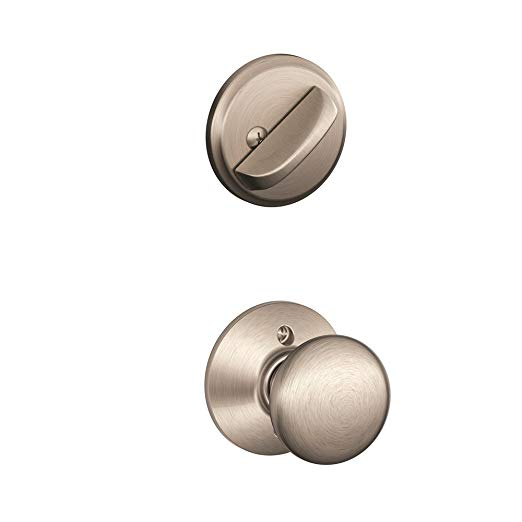 An image related to Schlage F59 PLY Satin Nickel Lock