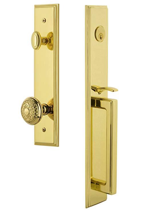 An image related to Grandeur 845522 Brass Lever Lockset Door Lock