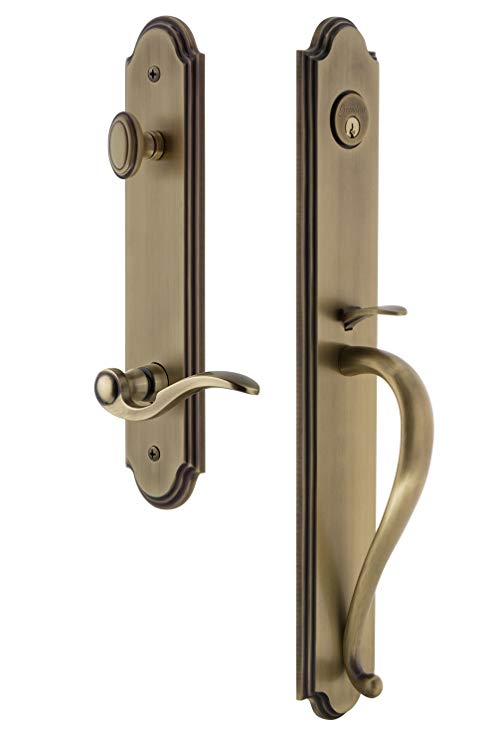 An image of Grandeur 846766 Brass Lever Lockset Lock