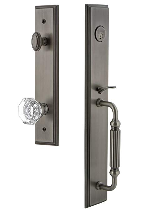 An image related to Grandeur 844866 Brass Pewter Lever Lockset Lock