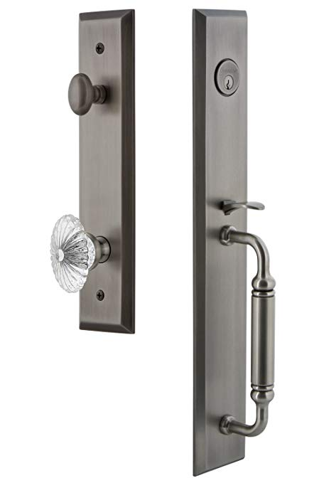 An image related to Grandeur 842597 Brass Pewter Lever Lockset Lock