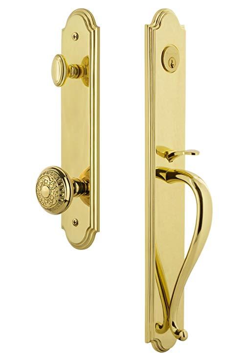 An image of Grandeur 844455 Brass Lever Lockset Door Lock | Door Lock Guide