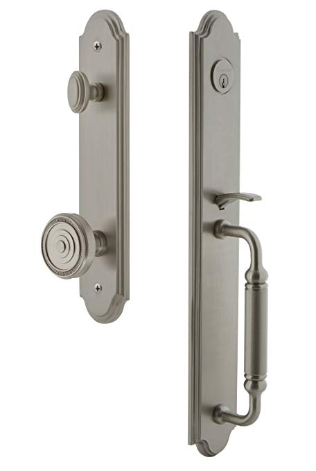 An image of Grandeur 842090 Satin Nickel Lever Lockset Lock | Door Lock Guide