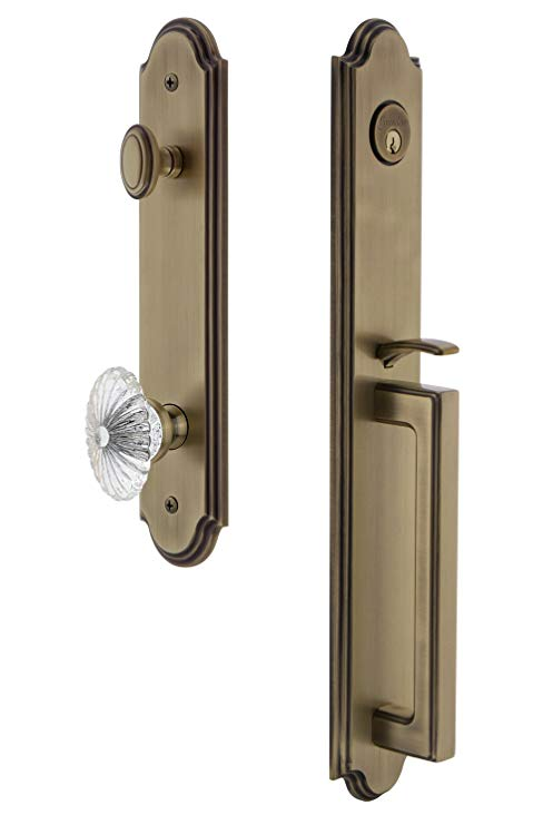 An image related to Grandeur 843762 Brass Lever Lockset Lock