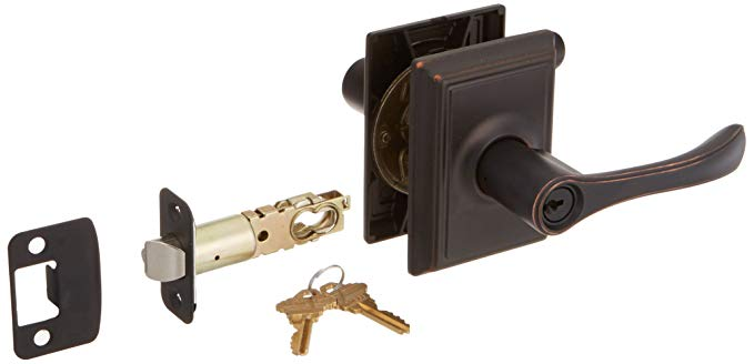 An image of Schlage F51A VLA 716 ADD Entry Aged Bronze Lock | Door Lock Guide