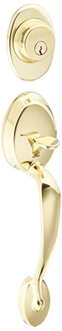 An image related to Schlage F58 PLY Polished Brass Lock