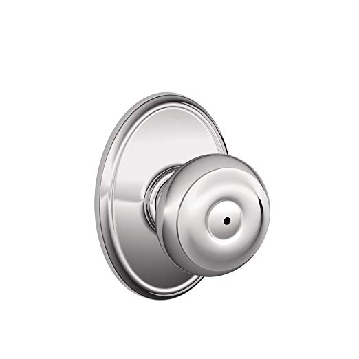 An image related to Schlage F40 GEO 625 WKF House Privacy Chrome Effect Lever Lockset Lock