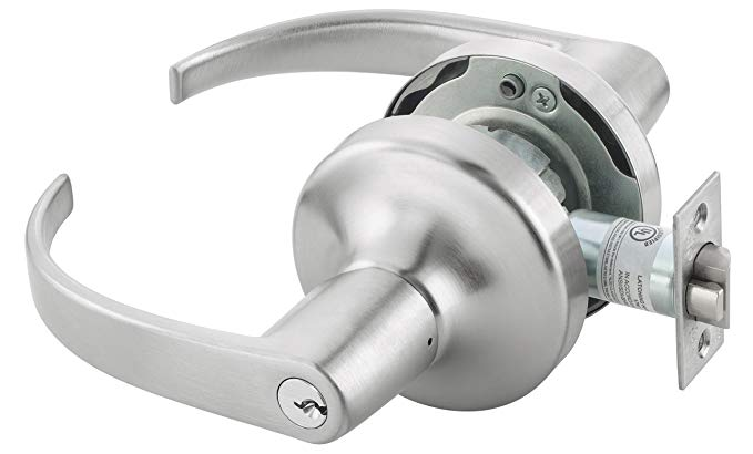 An image related to Yale MO4707 LKSET X 694 626 Entry Satin Chrome Lever Lockset Lock