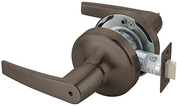An image of Yale MO4702LNX693X613E Privacy Lever Lockset Cylindrical Lock