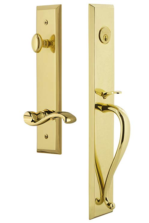 An image related to Grandeur 847989 Brass Lever Lockset Lock