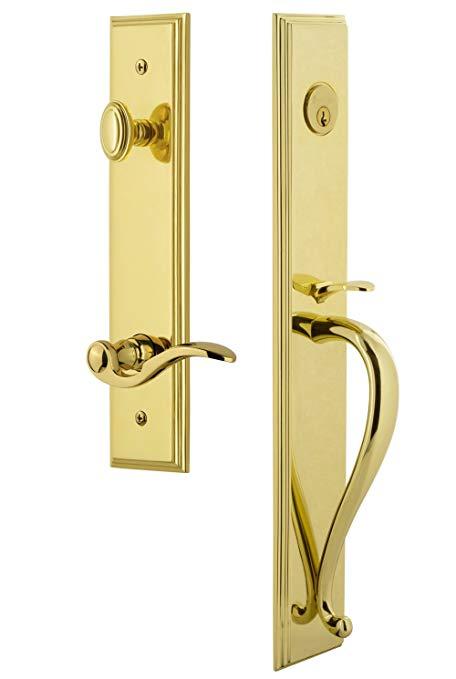 An image of Grandeur 847172 Brass Lever Lockset Door Lock | Door Lock Guide