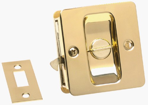 An image related to Kwikset 93330-001 Privacy Polished Brass Lever Lockset Lock