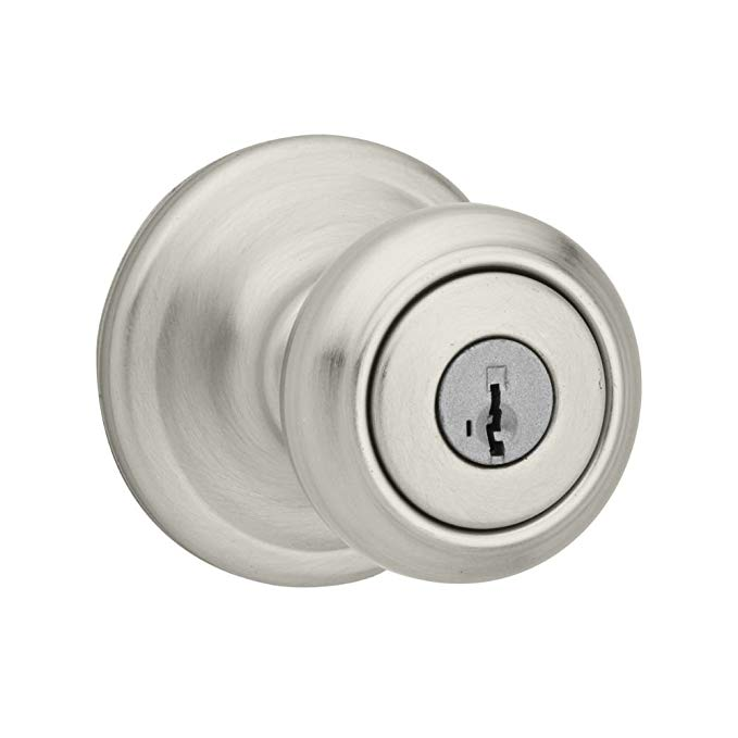 An image of Kwikset 97402-741 Entry Satin Nickel Lever Lockset Lock