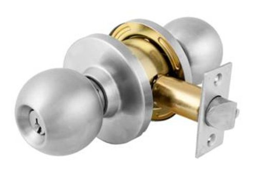 An image of Master Lock BLC0132DKA4 Entry Satin Chrome Lock
