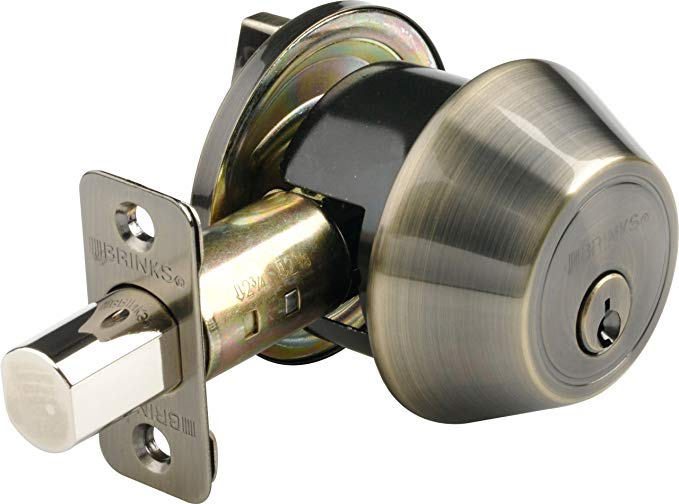 An image of BRINKS 2717-109 Brass Lever Lockset Lock
