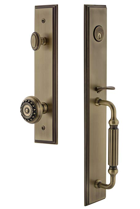 An image related to Grandeur 845322 Brass Lever Lockset Lock