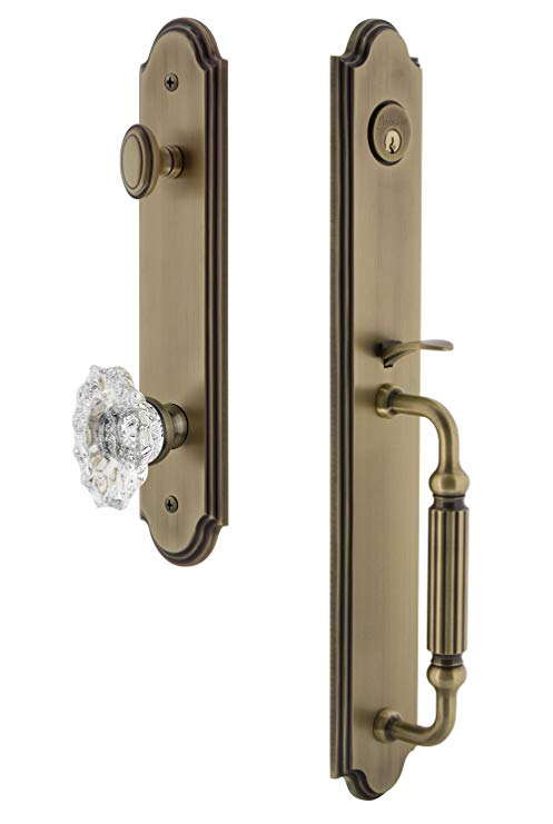 An image related to Grandeur 843587 Brass Lever Lockset Lock
